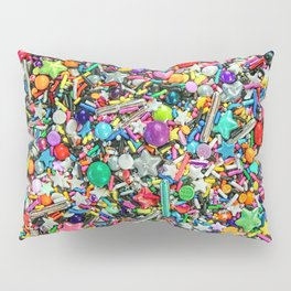 Rainbow Sprinkles - cupcake toppings galore Pillow Sham