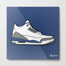 "Air Jordan III ""True Blue"" Metal Print"
