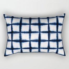 Shibori Squares Rectangular Pillow