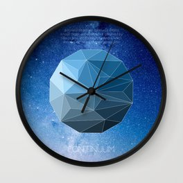 Continuum Space Wall Clock