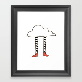 cloudy feet Framed Art Print