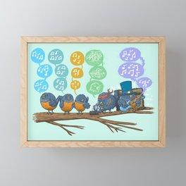 Spring Birds Framed Mini Art Print