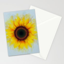 Sunflower Painting Stationery Cards