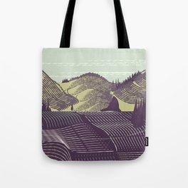 China Vintage landscape poster Tote Bag