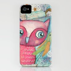 Owl, Bird and Fairy Slim Case iPhone (4, 4s)