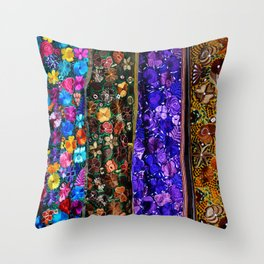 mexican art Throw Pillow