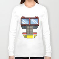optimus prime Long Sleeve T-shirts featuring Transformers - Optimus Prime by CaptainLaserBeam