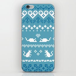 Pixel Rats Blue iPhone Skin