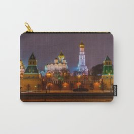 Moscow Kremlin cathedrals at night Carry-All Pouch