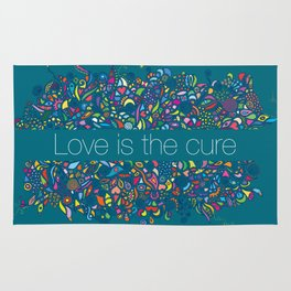 LOVE IS THE CURE Rug