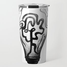 Light bulb Travel Mug