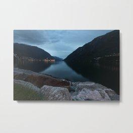 Norway blue Metal Print