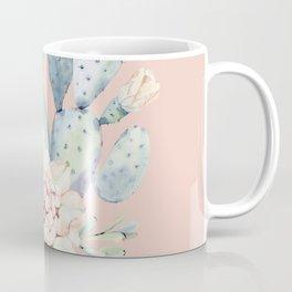 Sweet Pink Rose Desert Cactus Coffee Mug