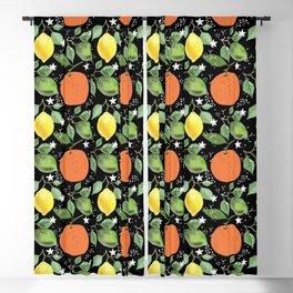 Aromatic Citrus Fruit Blackout Curtain