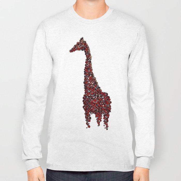 Red Giraffe Long Sleeve T-shirt