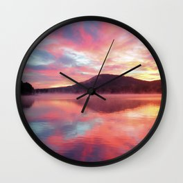 Sunrise: Fire Above and Fire Below Wall Clock