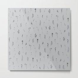 Wildflowers XVI - Cool Tone Gray Metal Print