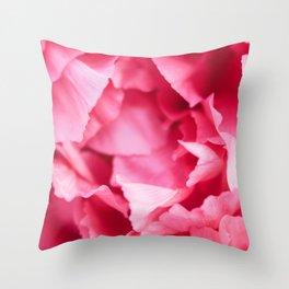 Peony Petals Throw Pillow