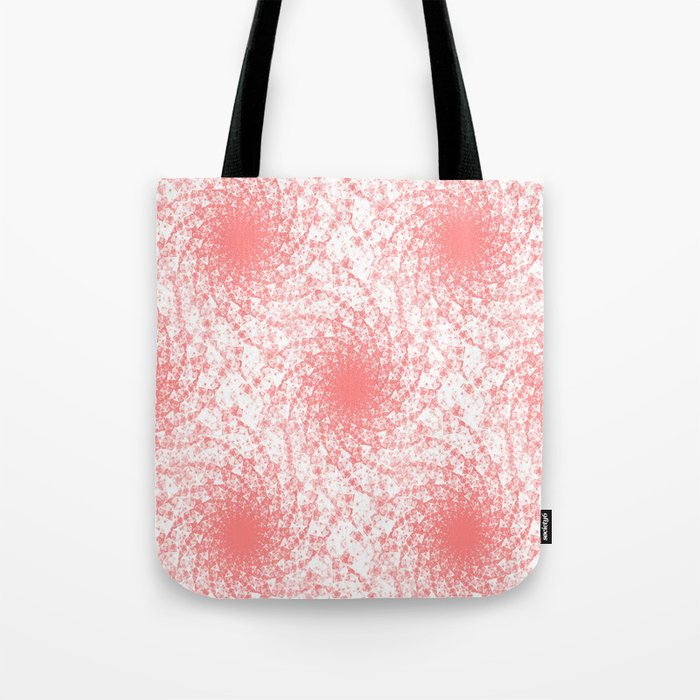 Pink And White Rotation Tote Bag
