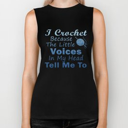 Crochet Because Little Voices Biker Tank
