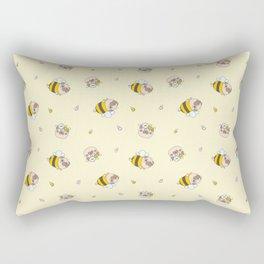 Pug Bee Pattern Rectangular Pillow