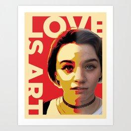 Love is Art Art Print