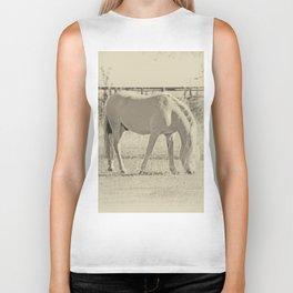 Horses on pasture Biker Tank