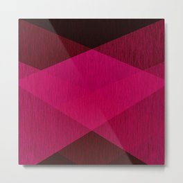 Geometric black- raspberry Metal Print