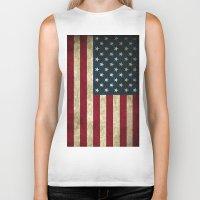 american flag Biker Tanks featuring American Flag by Abbie :)