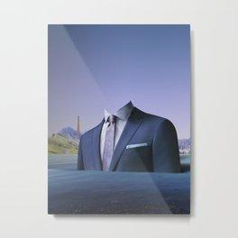 atmosphere 61 · Der Mann auf der Fahrt ins blaue Metal Print