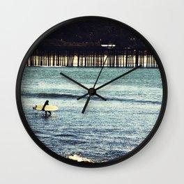 Longboard Pier Wall Clock