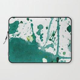 emerald green splash Laptop Sleeve