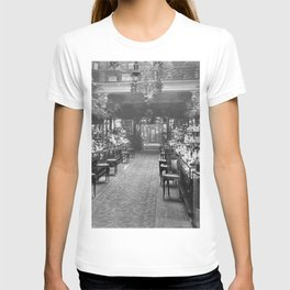 1919 Harrods Department Store, London, England Perfume Counter Vintage black and white photograph / art photography T-shirt