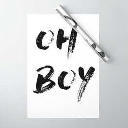 OH BOY Quote Wrapping Paper