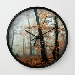forest colors Wall Clock