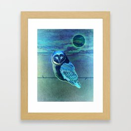 The Owl in the Paint Chip Framed Art Print