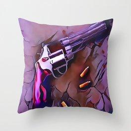 The Wheel Gun Throw Pillow