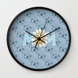 Dreamy Butterflies Roses and Mom Wall Clock
