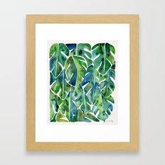 Split Leaf Philodendron – Green Framed Art Print