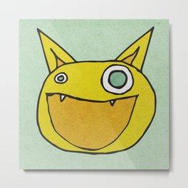 Slightly Amused Monsters, IX Yellow Metal Print