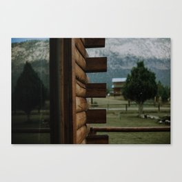 Rainy Cabin Days Canvas Print