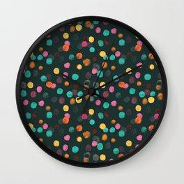 Painted Polka Wall Clock