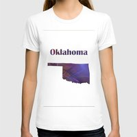 oklahoma T-shirts featuring Oklahoma Map by Roger Wedegis