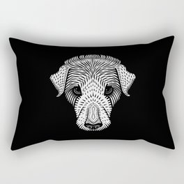 BW Dog Face Rectangular Pillow