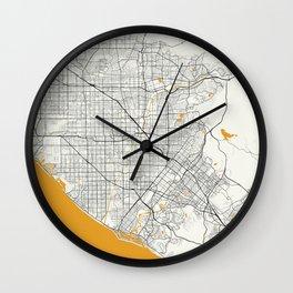 Orange County map Wall Clock