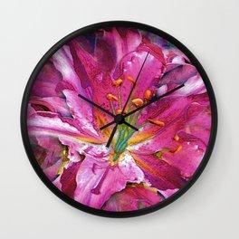 Star Gazing Star Lily Wall Clock