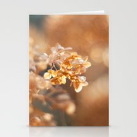 gold glitter Stationery Cards featuring Gold Glitter by Katie Kirkland Photography