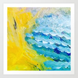 Golden Beach Art Print