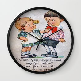 Never Kissed a Girl? Wall Clock