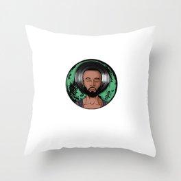 """Dexter Jordan """"Green Moon"""" Throw Pillow"""